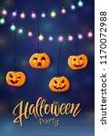 halloween background  cute...   Shutterstock .eps vector #1170072988