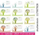 Calendar 2013 Fruit Tree Design....