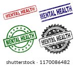 mental health seal prints with... | Shutterstock .eps vector #1170086482