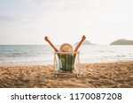 summer beach vacation concept ... | Shutterstock . vector #1170087208