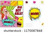 pop art hot sale advertising... | Shutterstock .eps vector #1170087868