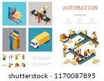isometric industrial factory... | Shutterstock .eps vector #1170087895