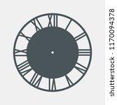 vintage round clock roman hour... | Shutterstock .eps vector #1170094378