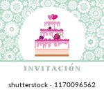 color card. invitation to a... | Shutterstock .eps vector #1170096562