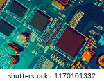 electronic circuit board close... | Shutterstock . vector #1170101332