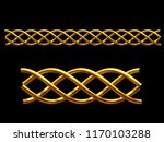 golden  ornamental segment  ... | Shutterstock . vector #1170103288