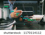 project manager working and... | Shutterstock . vector #1170114112