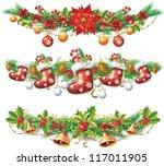 christmas garland   Shutterstock .eps vector #117011905