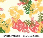 tropical background. green ... | Shutterstock .eps vector #1170135388