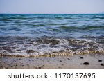 soft wave splashing on sea or... | Shutterstock . vector #1170137695