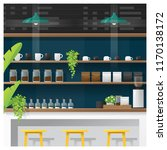 interior scene of modern coffee ... | Shutterstock .eps vector #1170138172