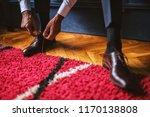 close up of bridegroom...   Shutterstock . vector #1170138808