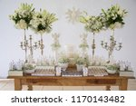 decorated table of baptism | Shutterstock . vector #1170143482