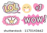 Set Of Cute Vector Stickers....
