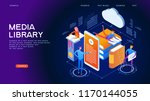 web library. technology and... | Shutterstock .eps vector #1170144055