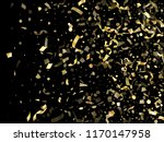 gold glossy confetti flying on... | Shutterstock .eps vector #1170147958