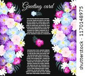 greeting card  floral wedding...   Shutterstock .eps vector #1170148975