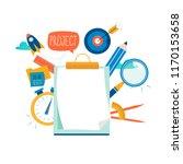 evaluation  examination... | Shutterstock .eps vector #1170153658