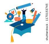 education  online training... | Shutterstock .eps vector #1170153745