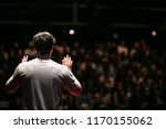 speaker giving a talk on... | Shutterstock . vector #1170155062