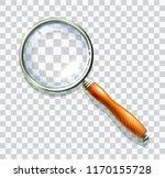 wooden magnify glass...   Shutterstock .eps vector #1170155728