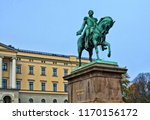 statue of king karl johan in... | Shutterstock . vector #1170156172