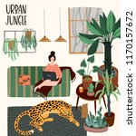 Urban Jungle. Vector...
