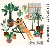 urban jungle. vector... | Shutterstock .eps vector #1170157675