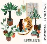 urban jungle. vector... | Shutterstock .eps vector #1170157678