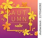 autumn sale vintage typography... | Shutterstock .eps vector #1170160282