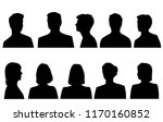 set silhouettes of men and... | Shutterstock .eps vector #1170160852