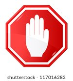 vector illustration of stop... | Shutterstock .eps vector #117016282