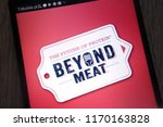 Small photo of KONSKIE, POLAND - SEPTEMBER 01, 2018: Beyond Meat logo displayed on a modern smartphone