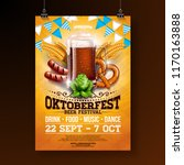 oktoberfest party poster... | Shutterstock .eps vector #1170163888