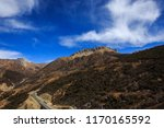 mountain scenery on the road... | Shutterstock . vector #1170165592