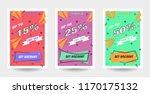 trendy flat geometric vector... | Shutterstock .eps vector #1170175132