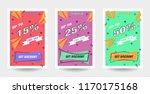 trendy flat geometric vector... | Shutterstock .eps vector #1170175168
