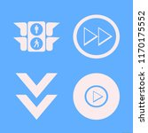 direction vector icons set....   Shutterstock .eps vector #1170175552