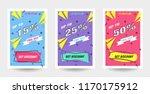 trendy flat geometric vector... | Shutterstock .eps vector #1170175912