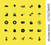 colorful vector icons set. with ... | Shutterstock .eps vector #1170178495