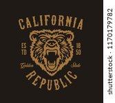 california republic t shirt... | Shutterstock .eps vector #1170179782
