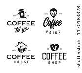 coffee shop logotype template... | Shutterstock .eps vector #1170183328