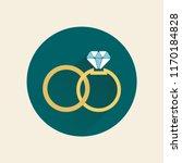 wedding rings. flat design.... | Shutterstock .eps vector #1170184828