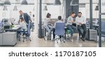 team at work. group of young... | Shutterstock . vector #1170187105