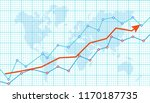abstract financial chart with... | Shutterstock .eps vector #1170187735