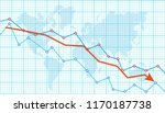 abstract financial chart with... | Shutterstock .eps vector #1170187738