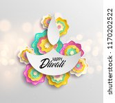 happy diwali. paper graphic of... | Shutterstock .eps vector #1170202522