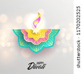happy diwali. paper graphic of... | Shutterstock .eps vector #1170202525