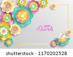 happy diwali. paper graphic of... | Shutterstock .eps vector #1170202528