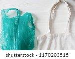 ban plastic. plastic bag with... | Shutterstock . vector #1170203515